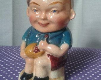 Burlington,England Toby Jug 'Horner' design. Burlington ware, little Jack Horner, pottery, Toby jug,  ornament, late 1950s, early 1960s.