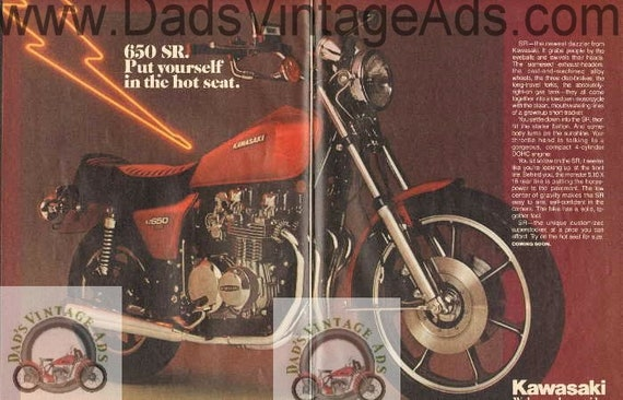 1978 Kawasaki KZ650-SR Vintage Motorcycle 2-Page Ad #de78ba04
