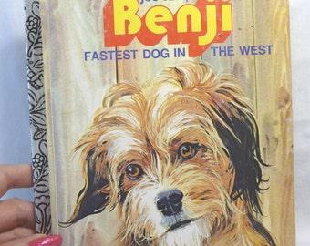 Benji Fastest Dog in the West,Vintage Benji Book, Childrens Book, Little Golden Book, Vintage 1978, Dog Story, Colorful Pictures, Adventure