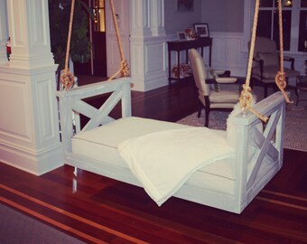 """Porch Swing: The """"Ravenel"""" Swing Bed -- FREE SHIPPING (Bedswing)"""
