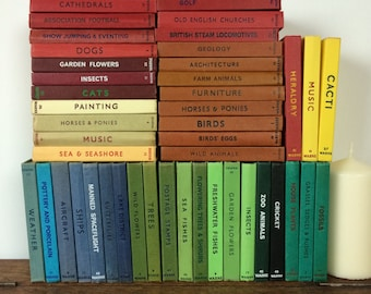 Vintage Observer books, Wide range of subjects and coloured covers, ideal for country home decor styling