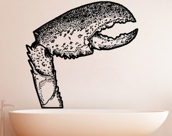 Vinyl Wall Decal Sticker Crab Claw 5314s