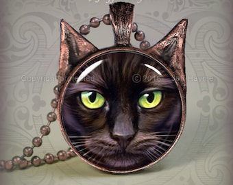 BLK12 Black Cat pendant