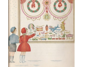 Pamela Williams Bianco rare children's Christmas picture book The Doll in the Window, sweet story of joy of giving, Cub Scout good deed