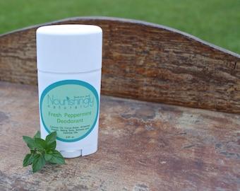 Peppermint Deodorant, Aluminum Free Natural Deodorant for Men or Women, Essential Oil Deodorant, Mint Deodorant Stick, Natural Skincare