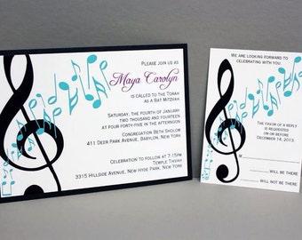 Music Note Invitation