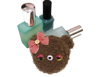 Kawaii Pocket Mirror Crochet Bear Teddy Bear Amigurumi Bear Mirror Kawaii Accessory Party Favors Mothers Day Gift Idea Gift for Her