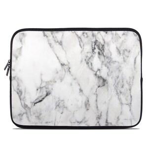 Laptop Sleeve Bag Case - White Marble - Neoprene Padded - Fits MacBooks + More