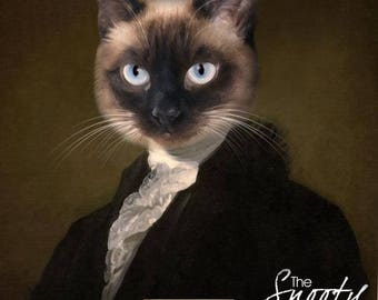 CAT PORTRAIT –Cat Print–Cat  Portrait Custom – Pet Portraits – Custom Pet Portraits –Cat  Art -Pet Portraits From Photo