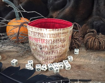 Norse Runic Dice Bag
