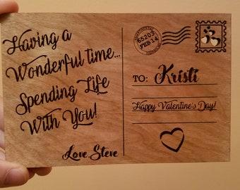 Wooden Valentine Postcard