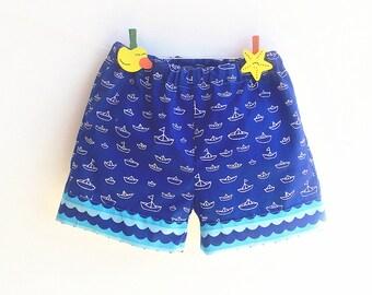 SEVEN SEAS Baby Toddler Shorts  sewing pattern Pdf, Children Shorts, Easy Woven shorts pattern,  size newborn 3 6-9 12 18m 1 2 3 4 5 6 years