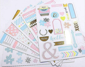 Bullet Journal Stickers, Planner Stickers, Calendar Stickers, Journal Stickers, Card Making, Planner Accessories, Water Intake