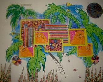 A tropical treehouse