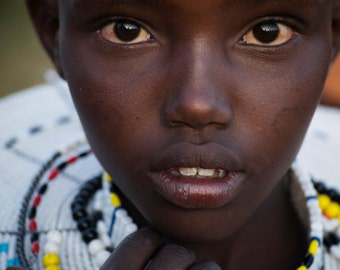 Maasai Girl - Tanzania, Africa, Ngorongoro Conservation Area - African Girl