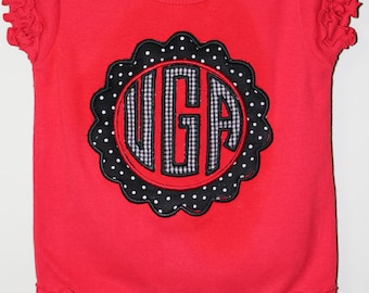 UGA Baby, Georgia Baby, Georgia Monogram, UGA Shirt, UGA Bodysuit, Georgia Shirt, Georgia Bulldogs, University of Georgia, Georgia
