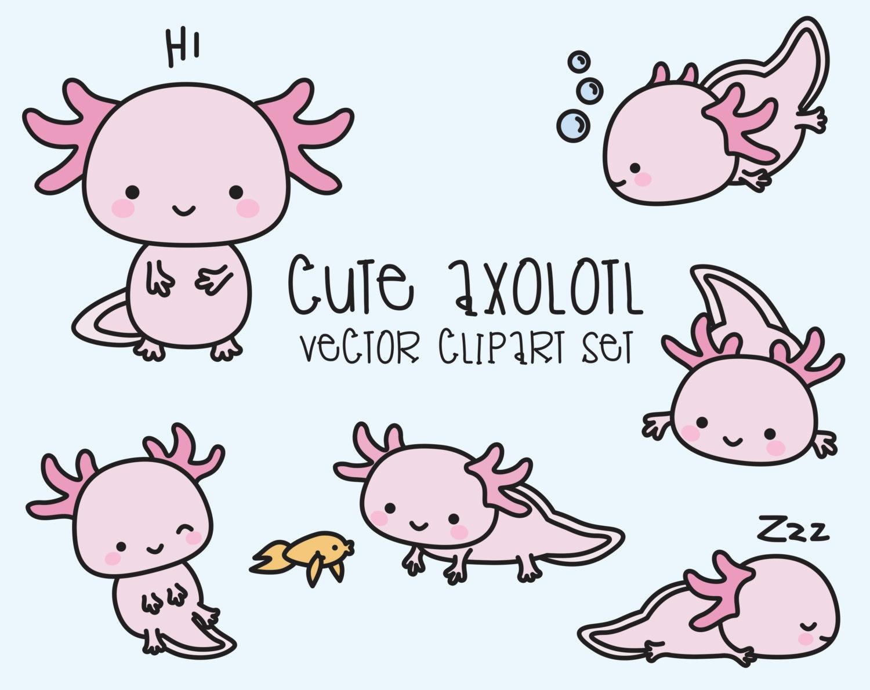 Ireland Vacation Ideas Premium Vector Clipart Kawaii Axolotls Cute Axolotl