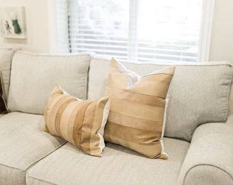 One of a kind leather pillows
