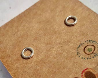 Sterling Silver Circle Earrings - loop / circle of life studs