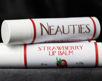 Natural Lip Balm // Strawberry Flavor // The World's Most Loved Lip Balm! // Neauties Premium Lip Products