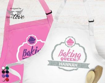 Personalized Apron for Baking Queen | Baking Princess | Bakers Apron | Kitchen Apron | Cooking | Baking Apron | Adult Apron | Chef's Apron