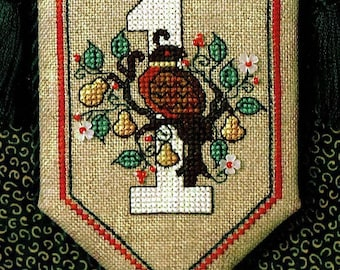 Partridge in a Pear Tree w/charms by Sweetheart Tree Counted Cross Stitch Pattern/Chart