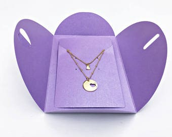 Mother daughter Gift: 2 Gold Necklaces Gift