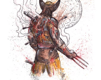 Can't Be Undone 11x14 Signed and Numbered Wolverine Art Print