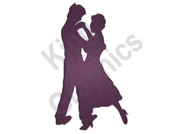 Dancing Silhouette - Machine Embroidery Design, Couple Dancing, Dancers, Dancing, Couple
