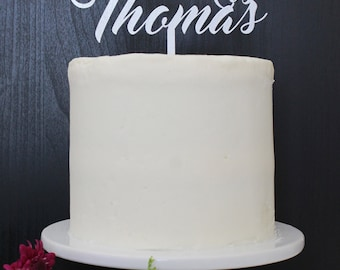 Personalized Mr & Mrs Wedding Cake Topper | Custom Name | Red Velvet Collection