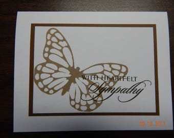 Handmade Sympathy Butterfly Card