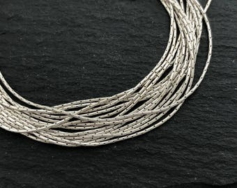 925 Silver Chain, 0.6 Italian Chain, Sterling Silver, Thin Silver Chain, Cardano Chain, Necklace Chain, Pendant Chain, Jewelry Making, 009