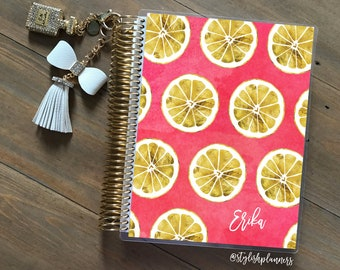 Lemons Planner Cover: for use with Erin Condren Life Planner(TM), Happy Planner and Recollections Planner