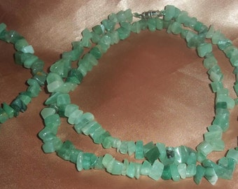Necklace, bracelet, and earrings Adventurine Nugget Set.!!