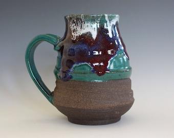 EXTRA LARGE Coffee Mug, 22 oz, unique coffee mug, handmade ceramic cup, handthrown mug, stoneware mug, pottery mug, ceramics and pottery