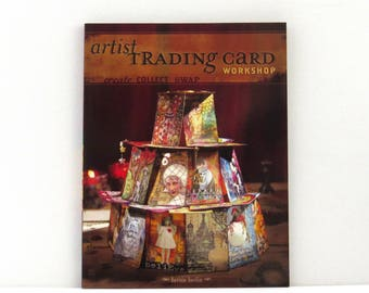 Artist Trading Card Workshop book, mixed media book, craft book, used craft book, art cards, altered paper
