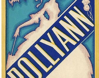 Vintage PollyAnn The A.F. Weymer Co. Original Lithograph Broom Label, 1920s