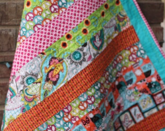 TBQ015 - Boho Baby Quilt - Multi Color, Girl