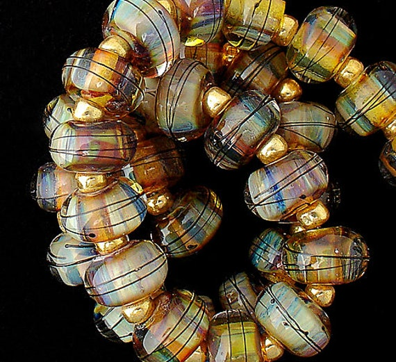 Lampwork Beads Glass Beads For Jewelry Supplies Statement Necklace Boho Bracelet Beads Beaded Necklace Beading Craft Supplies Debbie Sanders