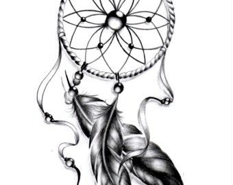Sets dream catcher temporary tattoos