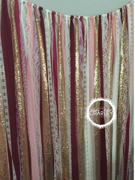 Burgundy Blush Pink Marsala Amp Gold Sparkle Sequin Fabric