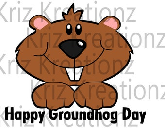 Groundhog Day SVG Cut File