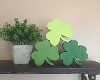 St. Patrick's Day Wood Shamrock