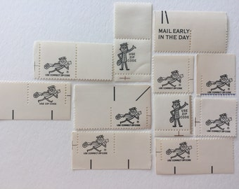 Zippy collection - 10 US postage stamps unused - vintage postal zip code ephemera mail art