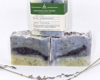 Soap - Meditation Mixer -Aromatherapy, Lavender Soap, Relaxing, Blue, Stress Relief, Bohemian,  Palm-free, Zero Waste - 5 oz