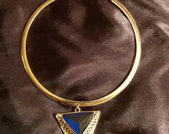Blue magick triangle pendant