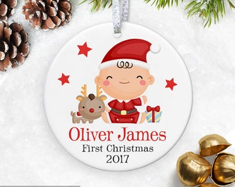 Personalized Baby's First Christmas Ornament, My First Christmas Ornament, Baby's 1st Christmas