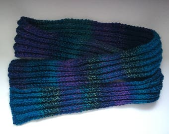 Handknit Ribbed Scarf
