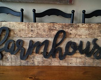 Farmhouse sign reclaimed wood rustic