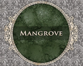 MANGROVE Matte Eyeshadow: Samples or Jars, Deep Moss Green, Loose Powder Eyeshadow, Cosmetic Pigment, VEGAN Makeup, Ships Out in 5-8 Days